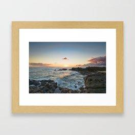 Sunset Kaena Point, Hawaii Framed Art Print
