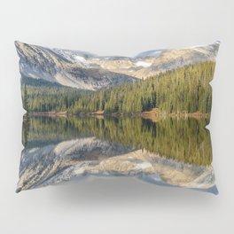 Photo USA Long Lake, Colorado, Indian Peaks Wilderness, Navajo Peak, Apache Peak Nature mountain Lake Forests Trees Mountains forest Pillow Sham