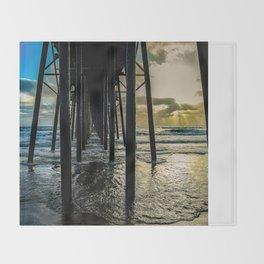 Sky Painting (Oceanside Pier) ~ 10-2015 Throw Blanket