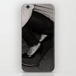 skateboarding girl iPhone Skin