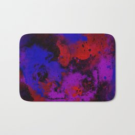 Colour Warfare - Abstract, red, blue, black and purple painting Bath Mat
