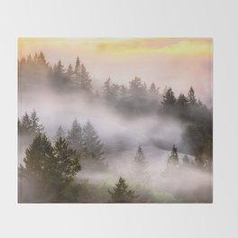Misty Mount Tamalpais State Park Throw Blanket