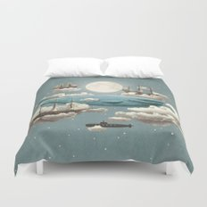 Ocean Meets Sky - colour option Duvet Cover