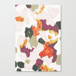 Abstract floral camouflage Canvas Print