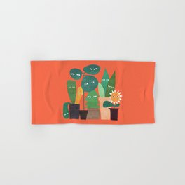 The plants are watching (paranoidos maximucho) Hand & Bath Towel