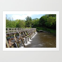 Walking Bridge, Philipsburg Manor, Sleepy Hollow NY Art Print