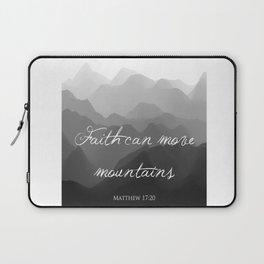 Faith Can Move Mountains Religious Bible Verse Art - Matthew 17:20 Laptop Sleeve