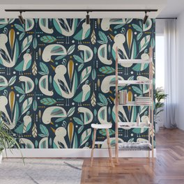 Feathered Flock Wall Mural