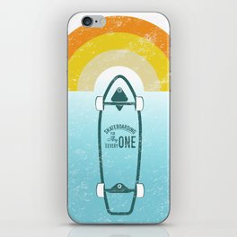 Skateboarding iPhone Skin