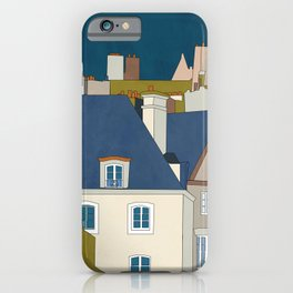 france houses abstract art iPhone Case