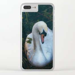 Lady in Waiting Clear iPhone Case
