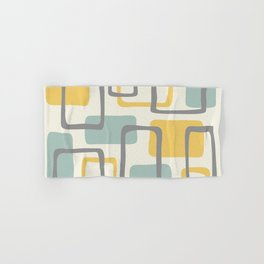 Mid Century Modern Abstract Squares Pattern 453 Hand & Bath Towel