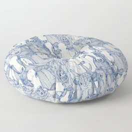 just cattle classic blue pearl Floor Pillow