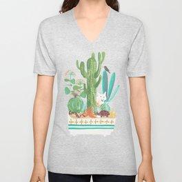 Desert planter Unisex V-Neck