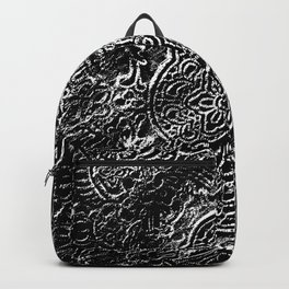 Black Flowerlace Backpack