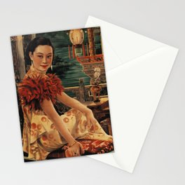 Vintage Chinese Movie Poster Stationery Cards