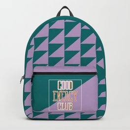 Good Energy Club- turquoise, orange, and lavender Backpack