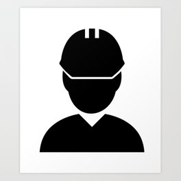 Supervision site manager foreman engineer construction Art Print