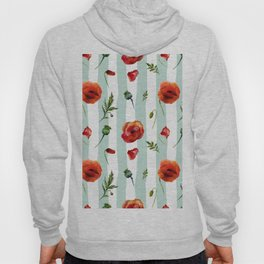 Poppy and Stripes Hoody