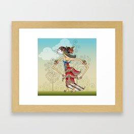 wayang Princess Srikandi Framed Art Print