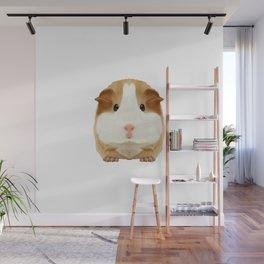 Guinea Pig Wheek Squeaking Christmas Gift Idea Wall Mural