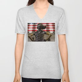 Fearless but Distant Unisex V-Neck