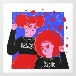 Resist & Fight Art Print