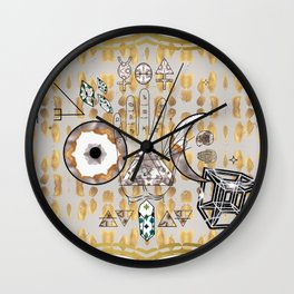 Mystification Fascination in Silver and Gold Wall Clock