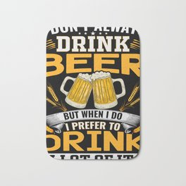 Beer bachelor party stag groom celebrations Bath Mat