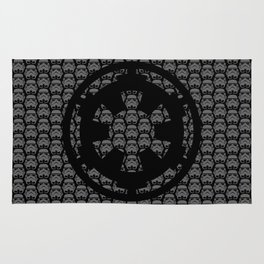 Stormtroopers and Imperial Cog in Gray Rug