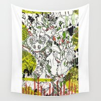 evolution Wall Tapestries featuring Evolution  by Devin Feely