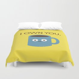 Coffee Talk Duvet Cover