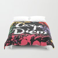 carpe diem Duvet Covers featuring Carpe diem by Julia Badeeva