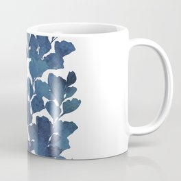 Blue watercolor maidenhair fern Coffee Mug