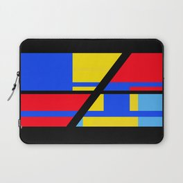 Abstract - Red, Black and Blue Laptop Sleeve