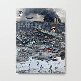 Still Life - Totoro Tsunami Series Metal Print
