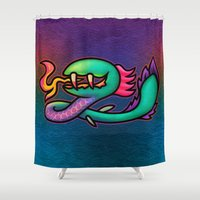 kraken Shower Curtains featuring Kraken by likelikes