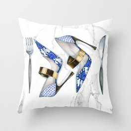No Carbs for Dinner: Exotic Throw Pillow
