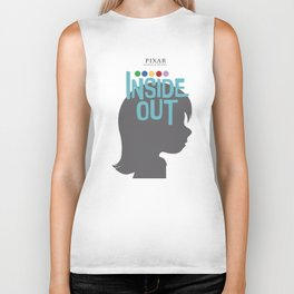 Inside Out - Minimal Movie Poster Biker Tank
