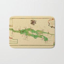 Map Of Lake Champlain 1740 Bath Mat