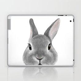 Netherland Dwarf rabbit Grey, illustration original painting print Laptop & iPad Skin