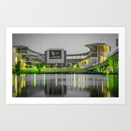 Baylor McLane Football Stadium Green Print Art Print
