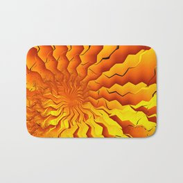 Broken Geometry 3 Abstract Fractal Art Bath Mat