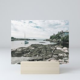 A Sailboat in Newport - Photography Mini Art Print