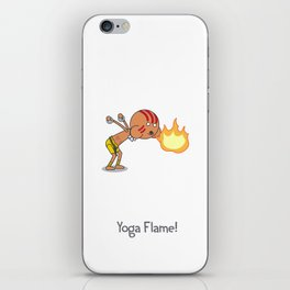 Yoga Flame! iPhone Skin