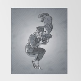 Cannes 2013 x Spielberg x ET (black and white) Throw Blanket
