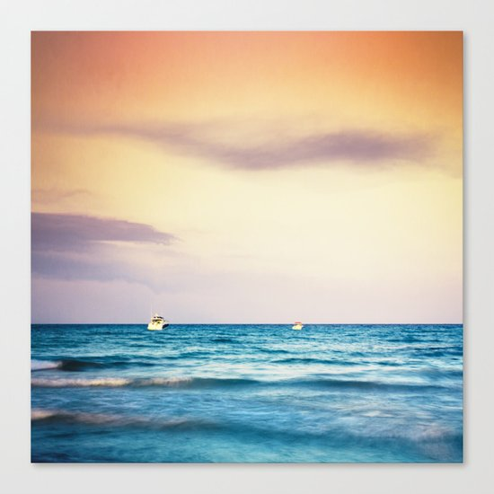 boats on the Mediterranean Canvas Print