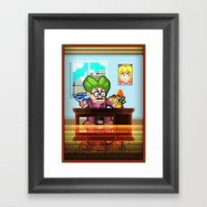Pixel Art series 8 : My Mayor Framed Art Print