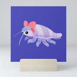 Ribbon giant isopod Mini Art Print