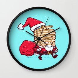 Santa Pancake Wall Clock